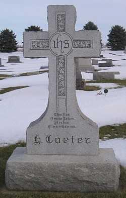 TOETER, HENRY (MAIN STONE) - Mitchell County, Iowa | HENRY (MAIN STONE) TOETER