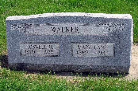 LANG WALKER, MARY - Mitchell County, Iowa | MARY LANG WALKER