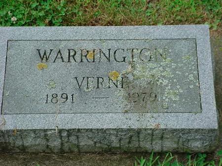WARRINGTON, VERNE - Mitchell County, Iowa   VERNE WARRINGTON