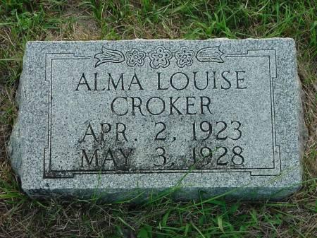 CROKER, ALMA LOUISE - Monona County, Iowa | ALMA LOUISE CROKER