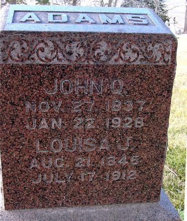 ADAMS, JOHN QUINCY - Monona County, Iowa | JOHN QUINCY ADAMS