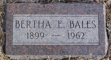 BALES, BERTHA E. - Monona County, Iowa | BERTHA E. BALES