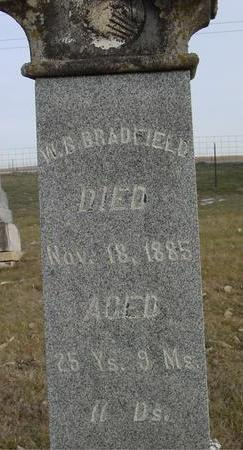 BRADFIELD, W. B. - Monona County, Iowa | W. B. BRADFIELD