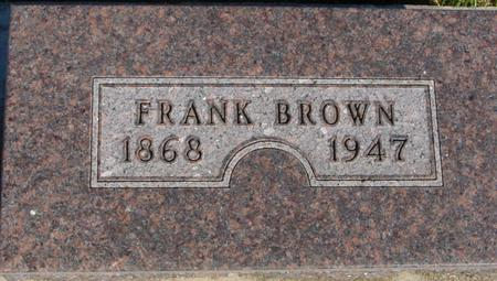 BROWN, FRANK - Monona County, Iowa | FRANK BROWN