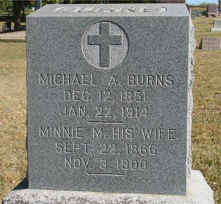 BURNS, MICHAEL & MINNIE - Monona County, Iowa | MICHAEL & MINNIE BURNS