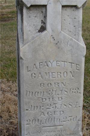 CAMERON, LAFAYETTE - Monona County, Iowa | LAFAYETTE CAMERON