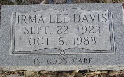 DAVIS, IRMA LEE - Monona County, Iowa | IRMA LEE DAVIS