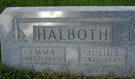 HALBOTH, JULIUS & EMMA - Monona County, Iowa | JULIUS & EMMA HALBOTH