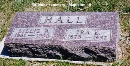 HALL, IRA E. & LILLIE B. - Monona County, Iowa | IRA E. & LILLIE B. HALL