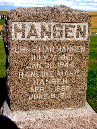 HANSEN, CHRISTIAN & HANSINE - Monona County, Iowa | CHRISTIAN & HANSINE HANSEN