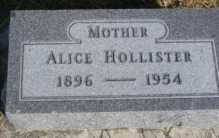 HOLLISTER, ALICE - Monona County, Iowa | ALICE HOLLISTER
