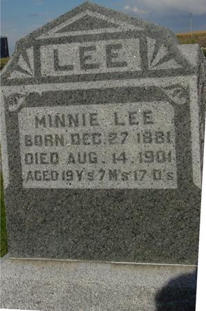 LEE, MINNIE - Monona County, Iowa | MINNIE LEE