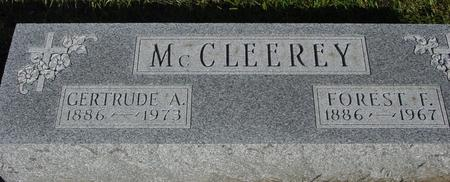MC CLEEREY, FOREST & GERTRUDE - Monona County, Iowa | FOREST & GERTRUDE MC CLEEREY