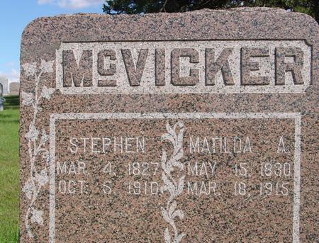 MC VICKER, STEPHEN & MATILDA - Monona County, Iowa | STEPHEN & MATILDA MC VICKER