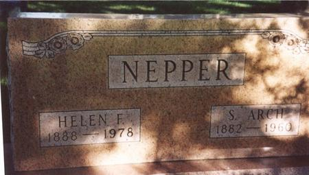 NEPPER, S. ARCH & HELEN F. - Monona County, Iowa | S. ARCH & HELEN F. NEPPER