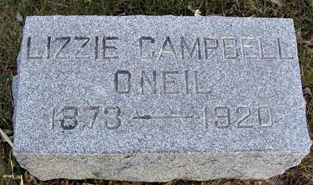 CAMPBELL O'NEIL, LIZZIE - Monona County, Iowa | LIZZIE CAMPBELL O'NEIL