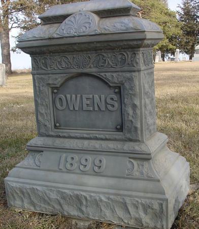 OWENS, GRAVESTONE - Monona County, Iowa | GRAVESTONE OWENS
