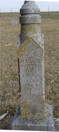 PORTER, MARY F. - Monona County, Iowa | MARY F. PORTER