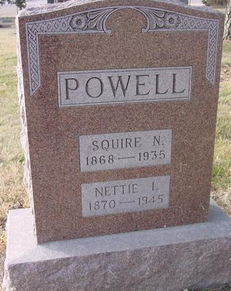 POWELL, SQUIRE & NETTIE - Monona County, Iowa | SQUIRE & NETTIE POWELL