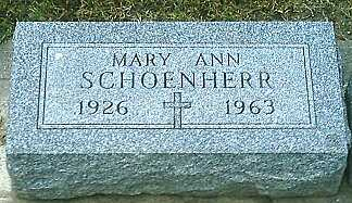 SCHOENHERR, MARY ANN - Monona County, Iowa | MARY ANN SCHOENHERR