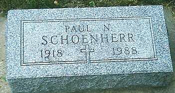 SCHOENHERR, PAUL N. - Monona County, Iowa | PAUL N. SCHOENHERR