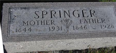 SPRINGER, MOTHER & FATHER - Monona County, Iowa | MOTHER & FATHER SPRINGER