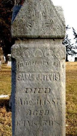 TEVIS, SARAH J. - Monona County, Iowa | SARAH J. TEVIS