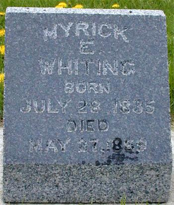 WHITING, MYRICK - Monona County, Iowa | MYRICK WHITING