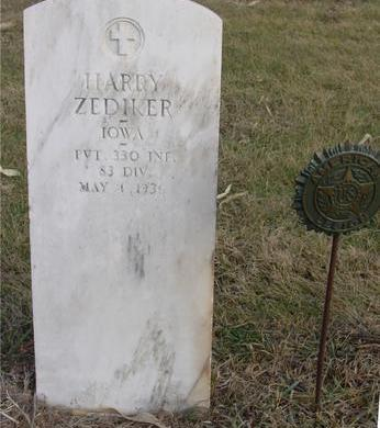 ZEDIKER, HARRY - Monona County, Iowa | HARRY ZEDIKER