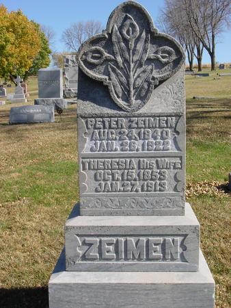 ZEIMEN, PETER & THERESIA - Monona County, Iowa | PETER & THERESIA ZEIMEN