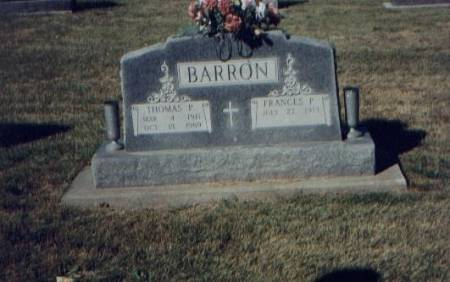 BARRON, THOMAS & FRANCES - Monroe County, Iowa | THOMAS & FRANCES BARRON
