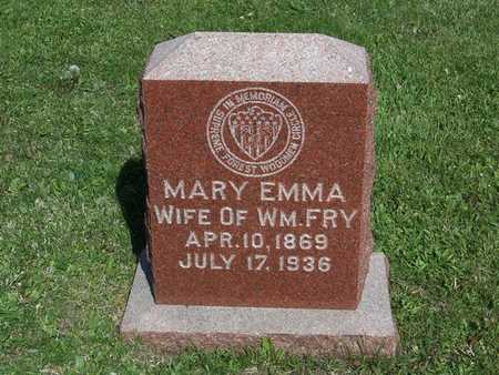 SPINKS FRY, MARY EMMA - Monroe County, Iowa | MARY EMMA SPINKS FRY