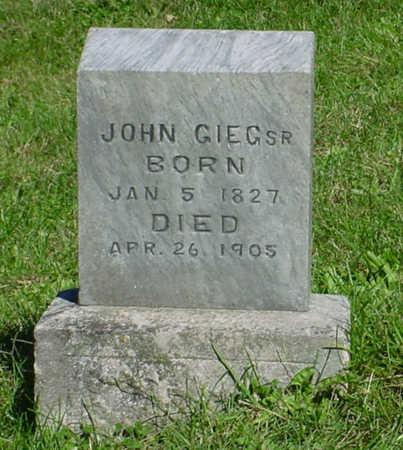 GIEG, JOHN - Monroe County, Iowa | JOHN GIEG