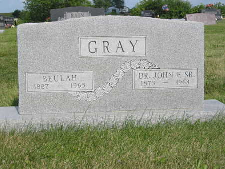 GRAY, DR. JOHN F. - Monroe County, Iowa | DR. JOHN F. GRAY