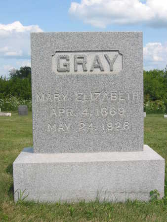 GRAY, MARY ELIZABETH - Monroe County, Iowa | MARY ELIZABETH GRAY