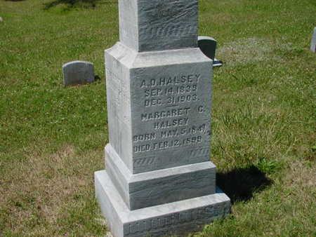 HALSEY, MARGARET C. - Monroe County, Iowa | MARGARET C. HALSEY