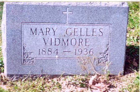 MARY, GELLES VIDMORE - Monroe County, Iowa | GELLES VIDMORE MARY