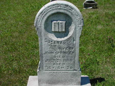 SPRINGER, SUSANAH - Monroe County, Iowa | SUSANAH SPRINGER