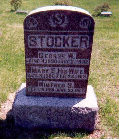 STOCKER, GEORGE W, MARY E, WINIFRED - Monroe County, Iowa | GEORGE W, MARY E, WINIFRED STOCKER