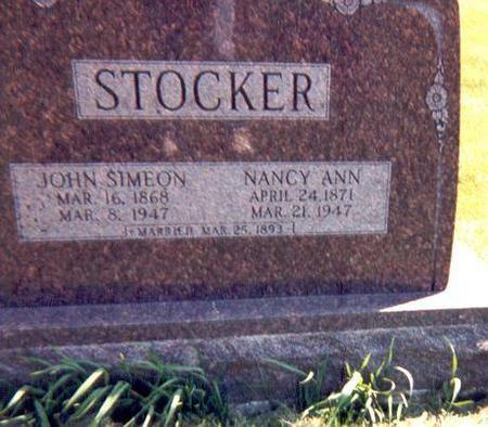 STOCKER, JOHN SIMEON  AND NANCY LOCKMAN - Monroe County, Iowa | JOHN SIMEON  AND NANCY LOCKMAN STOCKER
