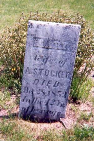 STOCKER, MARY - Monroe County, Iowa   MARY STOCKER
