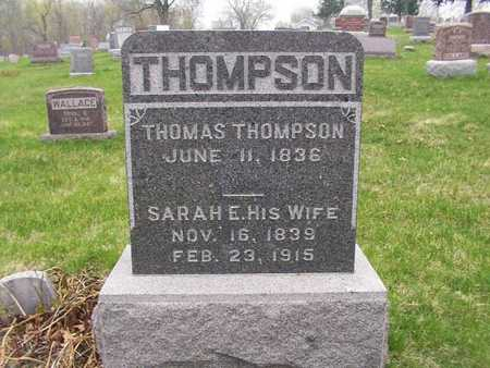 THOMPSON, SARAH E. - Monroe County, Iowa | SARAH E. THOMPSON