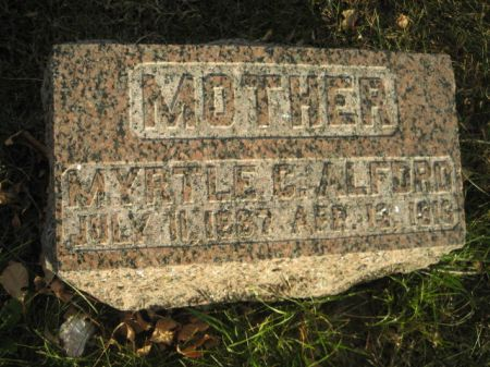 ALFORD, MYRTLE C. - Montgomery County, Iowa   MYRTLE C. ALFORD