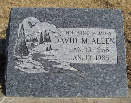 ALLEN, DAVID M - Montgomery County, Iowa | DAVID M ALLEN