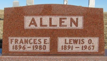 ALLEN, FRANCES E - Montgomery County, Iowa | FRANCES E ALLEN