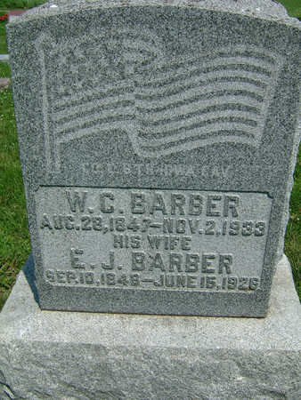 BARBER, E. J. - Montgomery County, Iowa | E. J. BARBER