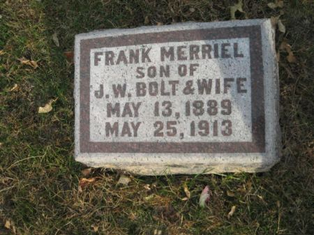 BOLT, FRANK MERRIEL - Montgomery County, Iowa   FRANK MERRIEL BOLT