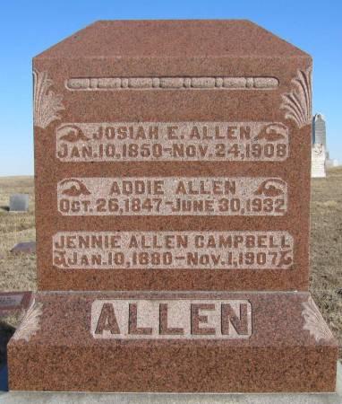 ALLEN CAMPBELL, JENNIE - Montgomery County, Iowa   JENNIE ALLEN CAMPBELL