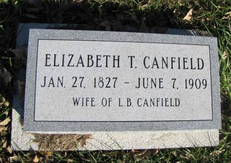 THOMPSON CANFIELD, ELIZABETH - Montgomery County, Iowa | ELIZABETH THOMPSON CANFIELD
