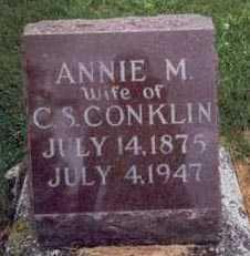 CONKLIN, ANNIE M. - Montgomery County, Iowa | ANNIE M. CONKLIN